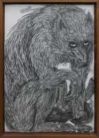 pencil on paper, framed 121 x 88 cm